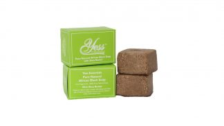Pure Natural African Black Soap with Shea Butter